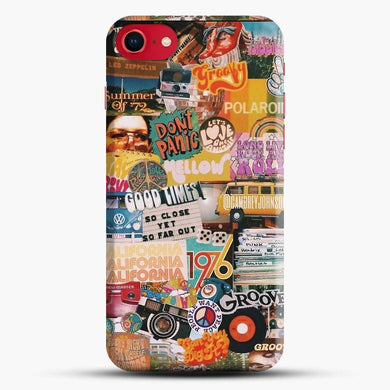 70S Vintage Vibe Collage Good Times Iphone 7 Case, Black Snap 3D Case | JoeYellow.com