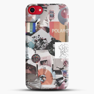 70S Vintage Vibe Collage Polaroid Iphone 7 Case, Black Snap 3D Case | JoeYellow.com