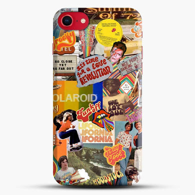 70S Vintage Vibe Collage Retro Wallpaper Iphone 7 Case, Black Snap 3D Case | JoeYellow.com