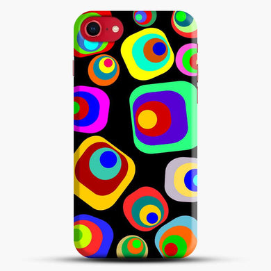 70S Vintage Vibe Collage Square Iphone 7 Case, Black Snap 3D Case | JoeYellow.com