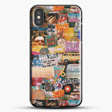 Load image into Gallery viewer, 70S Vintage Vibe Collage iPhone X Case, Black Plastic Case | JoeYellow.com