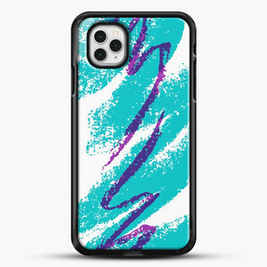 90S Cup Jazz Pattern iPhone 11 Pro Case, Black Rubber Case | JoeYellow.com