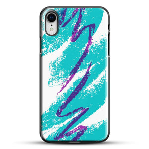 90S Cup Jazz Pattern iPhone XR Case, Black Plastic Case | JoeYellow.com