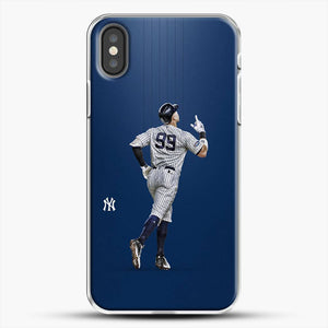 Aaron Judge Yankees Baseball iPhone X Case, White Plastic Case | JoeYellow.com