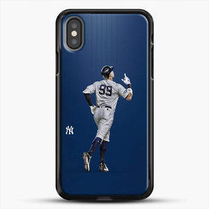 Aaron Judge Yankees Baseball iPhone X Case, Black Rubber Case | JoeYellow.com