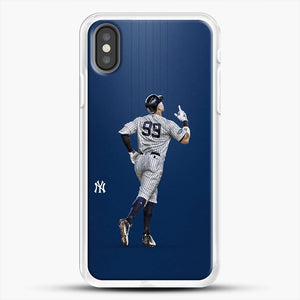 Aaron Judge Yankees Baseball iPhone X Case, White Rubber Case | JoeYellow.com