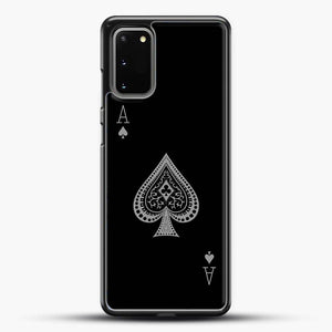 Ace Of Spades Black Wallpaper Samsung Galaxy S20 Case, Black Rubber Case | JoeYellow.com