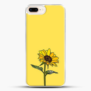 Aesthetic Sunflower iPhone 7 Plus Case, White Plastic Case | JoeYellow.com