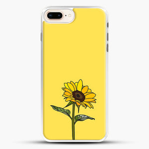 Aesthetic Sunflower iPhone 8 Plus Case, White Rubber Case | JoeYellow.com