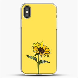 Aesthetic Sunflower iPhone X Case, White Plastic Case | JoeYellow.com