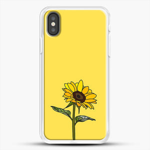 Aesthetic Sunflower iPhone X Case, White Rubber Case | JoeYellow.com