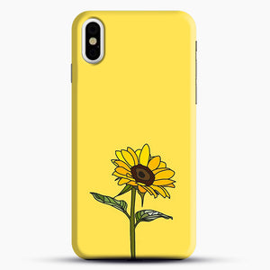 Aesthetic Sunflower iPhone X Case, Black Snap 3D Case | JoeYellow.com