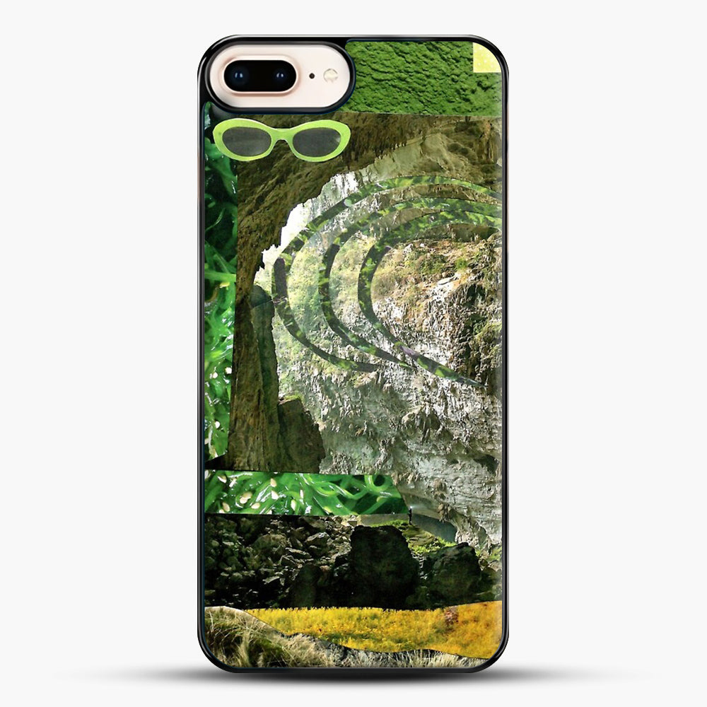 All Green iPhone 8 Plus Case, Black Plastic Case | JoeYellow.com