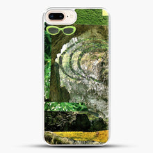 Load image into Gallery viewer, All Green iPhone 8 Plus Case, White Plastic Case | JoeYellow.com