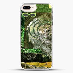 All Green iPhone 8 Plus Case, White Rubber Case | JoeYellow.com