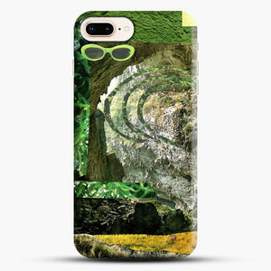 All Green iPhone 8 Plus Case, Black Snap 3D Case | JoeYellow.com