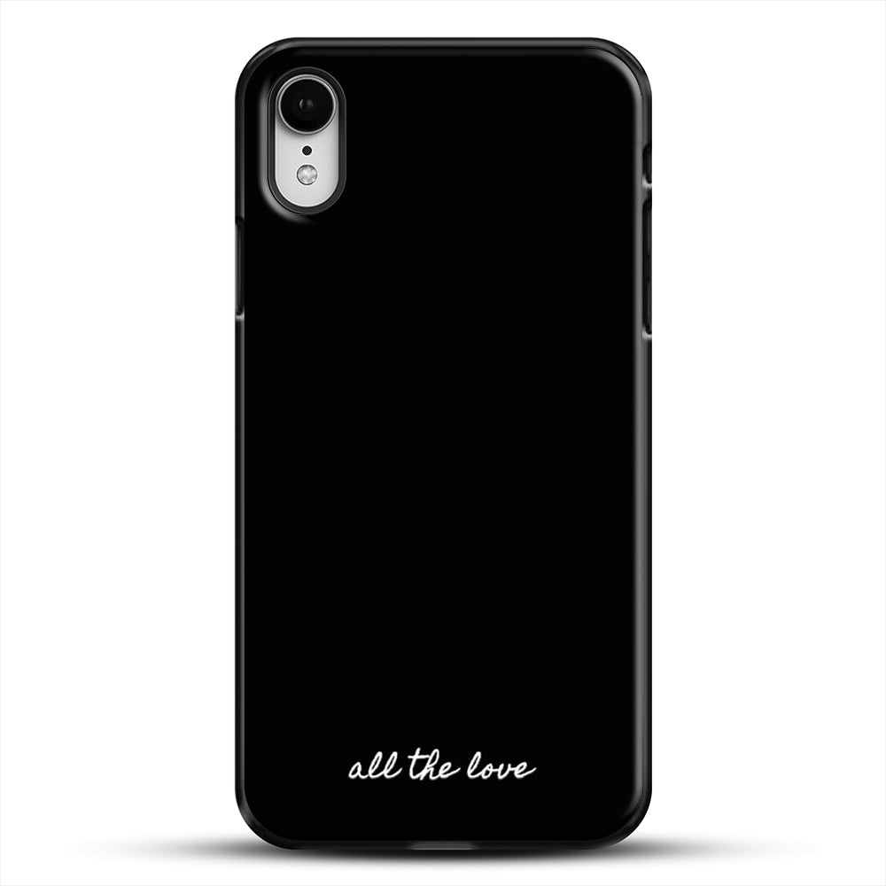 All The Love H iPhone XR Case, Black Plastic Case | JoeYellow.com