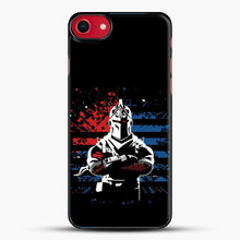 Load image into Gallery viewer, American Flag Fortnite iPhone SE 2020 Case, Black Plastic Case | JoeYellow.com
