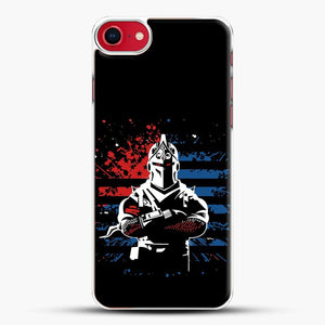 American Flag Fortnite iPhone SE 2020 Case, White Plastic Case | JoeYellow.com
