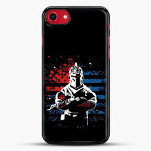 Load image into Gallery viewer, American Flag Fortnite iPhone SE 2020 Case, Black Rubber Case | JoeYellow.com