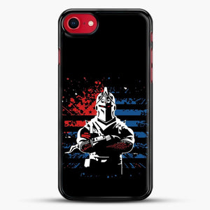 American Flag Fortnite iPhone SE 2020 Case, Black Rubber Case | JoeYellow.com