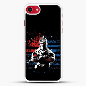 American Flag Fortnite iPhone SE 2020 Case, White Rubber Case | JoeYellow.com