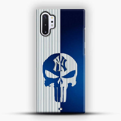 American New York Yankees Logo Skull Samsung Galaxy Note 10 Plus Case, Black Snap 3D Case | JoeYellow.com