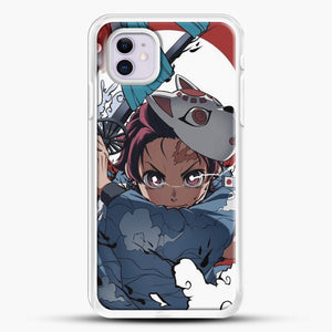 Anime Demon Slayer iPhone 11 Case, White Rubber Case | JoeYellow.com
