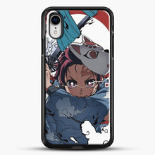 Load image into Gallery viewer, Anime Demon Slayer iPhone XR Case, Black Rubber Case | JoeYellow.com