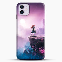 Load image into Gallery viewer, Anime Girl And Purple Rose iPhone 11 Case, Black Snap 3D Case | JoeYellow.com