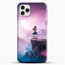 Load image into Gallery viewer, Anime Girl And Purple Rose iPhone 11 Pro Case, Black Snap 3D Case | JoeYellow.com