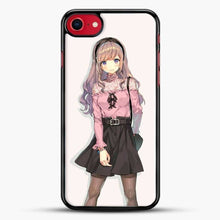 Load image into Gallery viewer, Anime Girl Pink Background iPhone 8 Case