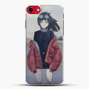 Anime Girl Sad Wear A Jacket iPhone 8 Case