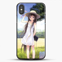 Load image into Gallery viewer, Anime Girl Wear A Hat iPhone X Case, Black Plastic Case | JoeYellow.com