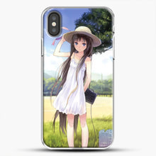 Load image into Gallery viewer, Anime Girl Wear A Hat iPhone X Case, White Plastic Case | JoeYellow.com