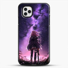 Load image into Gallery viewer, Anime Purple Sky iPhone 11 Pro Case, Black Plastic Case | JoeYellow.com