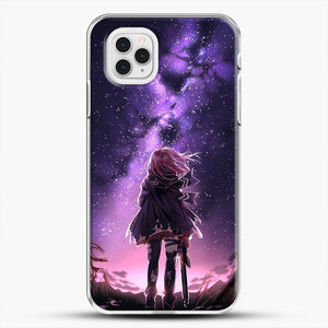 Anime Purple Sky iPhone 11 Pro Case, White Plastic Case | JoeYellow.com