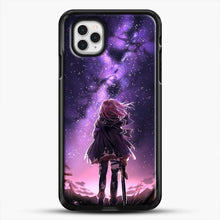 Load image into Gallery viewer, Anime Purple Sky iPhone 11 Pro Case, Black Rubber Case | JoeYellow.com