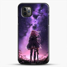 Load image into Gallery viewer, Anime Purple Sky iPhone 11 Pro Max Case, Black Plastic Case | JoeYellow.com