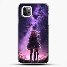 Load image into Gallery viewer, Anime Purple Sky iPhone 11 Pro Max Case, White Plastic Case | JoeYellow.com