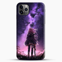 Load image into Gallery viewer, Anime Purple Sky iPhone 11 Pro Max Case, Black Snap 3D Case | JoeYellow.com