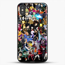 Load image into Gallery viewer, Anime Same Character iPhone X Case, Black Plastic Case | JoeYellow.com