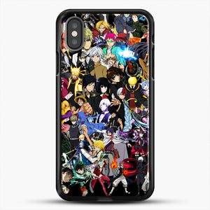 Anime Same Character iPhone X Case, Black Rubber Case | JoeYellow.com