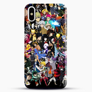 Anime Same Character iPhone X Case, Black Snap 3D Case | JoeYellow.com