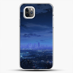 Anime Scenery City iPhone 11 Pro Max Case, White Plastic Case | JoeYellow.com
