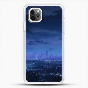 Anime Scenery City iPhone 11 Pro Max Case, White Rubber Case | JoeYellow.com