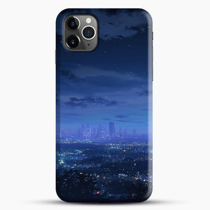 Anime Scenery City iPhone 11 Pro Max Case, Black Snap 3D Case | JoeYellow.com