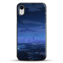 Load image into Gallery viewer, Anime Scenery City iPhone XR Case, Black Plastic Case | JoeYellow.com