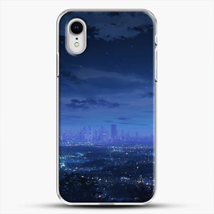 Anime Scenery City iPhone XR Case, White Plastic Case | JoeYellow.com