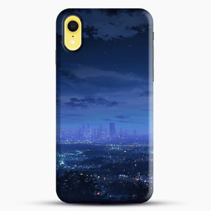 Anime Scenery City iPhone XR Case, Black Snap 3D Case | JoeYellow.com